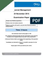 FM December 2015 - Examination Paper - Final