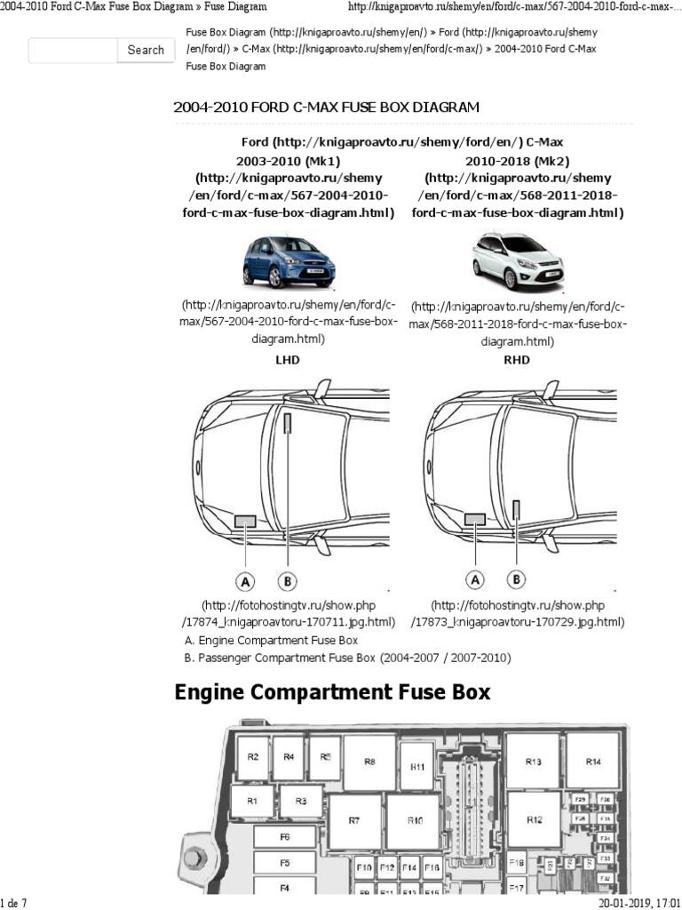 2004 2010 Ford C Max Fuse Box Diagram Fuse Diagram Computacao E Tecnologia Da Informacao Ciencia E Tecnologia