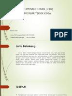 Laporan Seminar Filtrasi (D-09)
