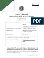 Lloyds Standard Form of Salvage Agreement