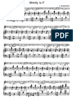 Famous Rubinstein Waltz for violin-piano