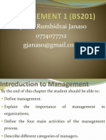 The World of Management