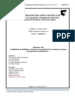 Relatorio # 06 Influência de Inibidores (naturais) na germinação de sementes.doc