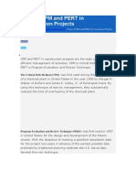 Uses of CPM and PERT in Construction Projects
