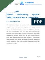 BAB 4 Penggunaan Global Positioning System (GPS) dan Alat Ukur Theodolite.doc