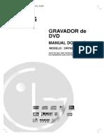 Gravador de DVD LG DR7923B Manual Do Usuario
