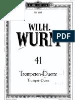PMLP183376-Wurm - 41 Trumpet Duets