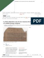 La BNE Digitaliza La Septuaginta