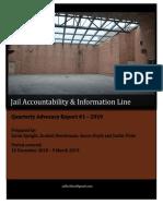 JAIL Hotline - Quarterly Advocacy Report #1