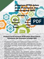 PKN (Pengaruh Kemajuan IPTEK)