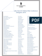 13th Biennial Credit, Bond & Political Risk Conference 2010