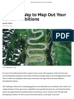 Map Out your career ambitions
