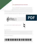 Ejercicios de piano