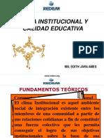 Clima Instituional y Calidad Educativa