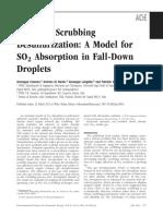Seawater Scrubbing Desulfurization a Mod