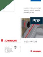 Aquafin Cj6 Brochure