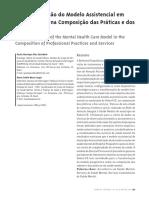 (Des)Construção Do Modelo Assistencial Em Saúde Mental Na Composição Das Práticas e Dos Serviços