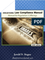 Securities Law and Compliance Manual for Regulation S Offerings
