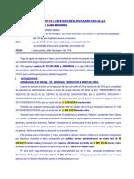Informe Nº 001 solicitar el 15% de cancelación por pre-liquidación técnica