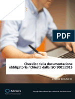 Checklist of ISO 9001 2015 Mandatory Documentation IT