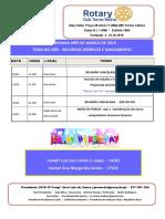 Programa Mês de Março 2019