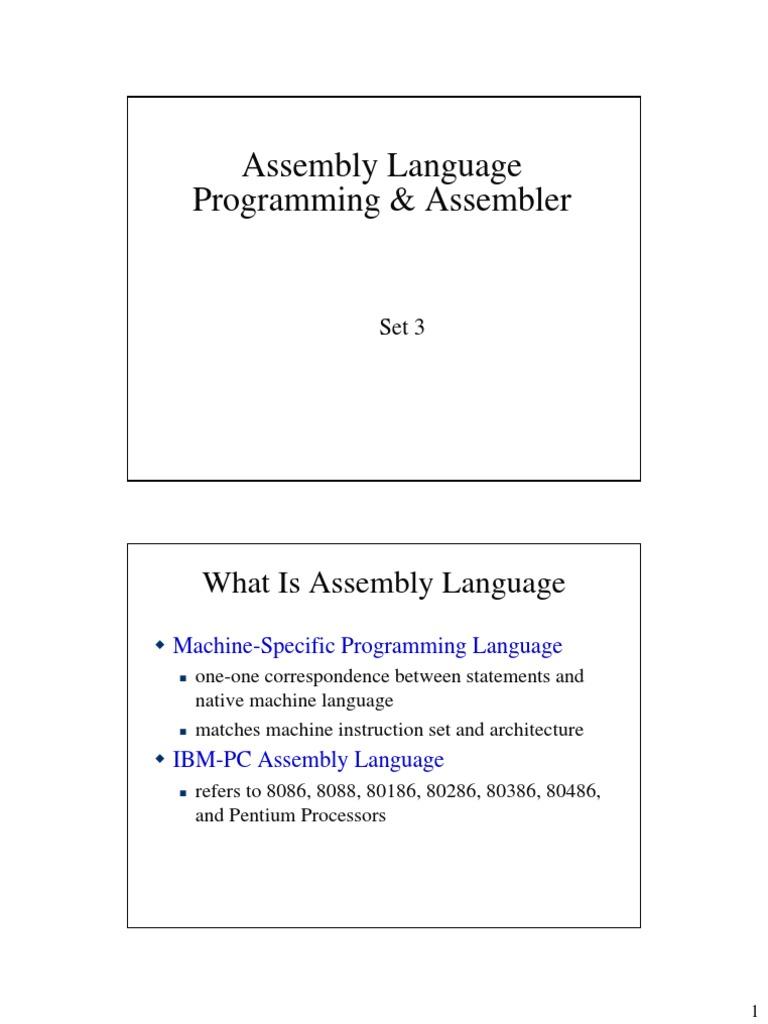 80386/80486 assembly language programming