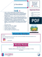 weekly newsletter march 11th inst