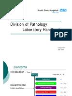 26932081 Division of Pathology Laboratory Handbook[1]