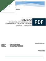 05 Informe de Liquidacion Canal Lahualahua - Modelo