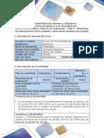 Guia de Actividades y Rúbrica de Evaluación - Fase 2- Identificar Los Fundamentos de La Calidad y Seleccionar Empresa de Estudio