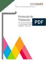 Protocolo de Ensayo Plan 1999