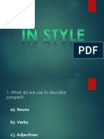 IN STYLE 1 (physical description lesson)