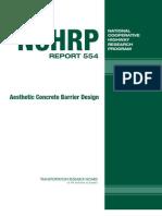 554 Aesthetic Concrete Barrier Design