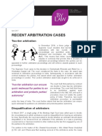 Recent Arbitration Cases (1)