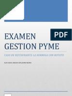 EXAMEN GESTION PYME