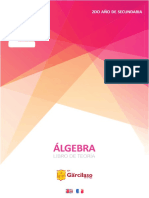 2do año de secundaria - ÁLGEBRA Libro de Teoría