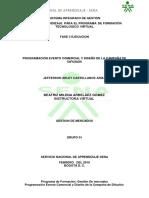 Programación Evento Comercial y Diseño de La Campaña de Difusión