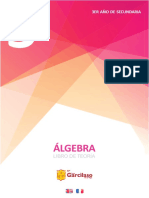 3ro año de secundaria - ÁLGEBRA Libro de Teoría