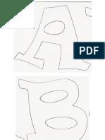 Letras Tamaño A4