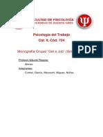 """Monografía Grupal """"Get a Job"""" (Sin Trabajo)"""