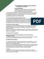 Diversas Leyes Que Promueven Los Derechos de Los Pueblos Indigenas de Guatemala