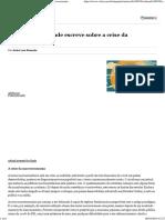 André Lara Resende Escreve Sobre a Crise Da Macroeconomia