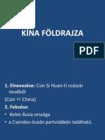 Kina Foldrajza