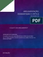 TEORIA DA ARGUMENTAÇÃO – a Construção Do Argumento