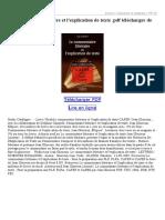 Le Commentaire Littraire Et Lexplication de Texte