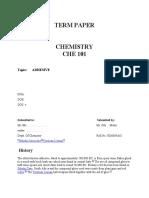 termpaper che101