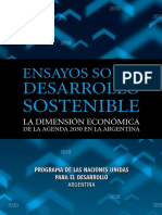 Ensayos Sobre Desarrollo Sostenible. La Dimensión Económica de la Agenda 2030 en la Argentina - PNUD