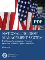 NIMS Intel/Investigations Function Guidance and Field Operations Guide