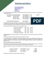 Sistemas de Valuacion de Inventarios