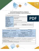 Guía de actividades y rúbrica de evaluación - Paso 1 - Elegir el tema de Investigación